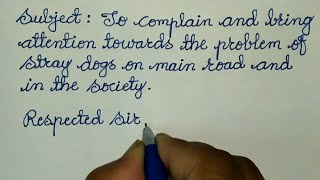 Formal Complaint Letter Format To Municipal Commissioner About Stray Dogs ✍@Sunflower