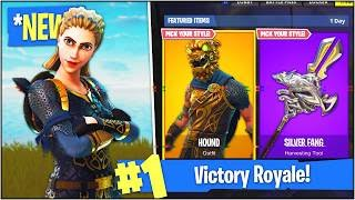 "NEW LEGENDARY ""HOUND"" & ""HIGHLAND WARRIOR"" SKINS in Fortnite Battle Royale! (Fortnite V.3.2.1)"