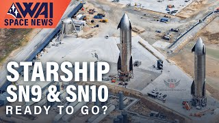 SpaceX Starship SN9 & SN10 ready for tests - NASA SLS Green Run Early Abort