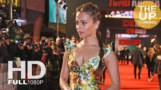tomb raider premiere alicia vikander arrival photocall and red carpet in london