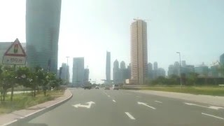Dubai - Morning Video - Clock Tower roundabout to Business Bay