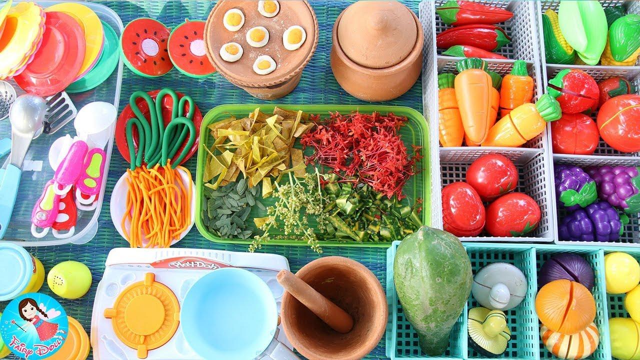 ละครสั้น เปิดร้านส้มตำยำแซบ ของเล่นทำอาหาร ของเล่นผักผลไม้หั่นได้
