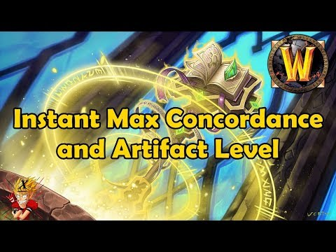 Instant Max Concordance and Artifact Level - Bite Sized WoW News