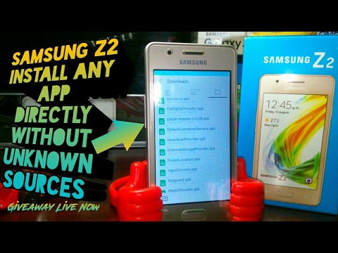 Samsung Z2 Directly Install Any Apk |ACL Hacked|