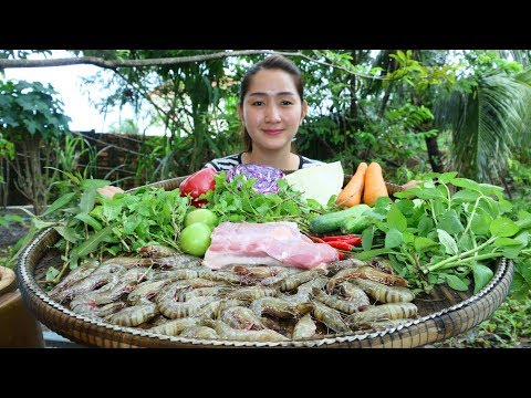 Yummy Shrimp Pork Salad Vegetable – Shrimp Pork Salad – Cooking With Sros