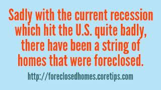 Buy Foreclosed Homes