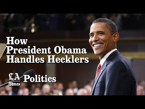 How President Obama handles hecklers