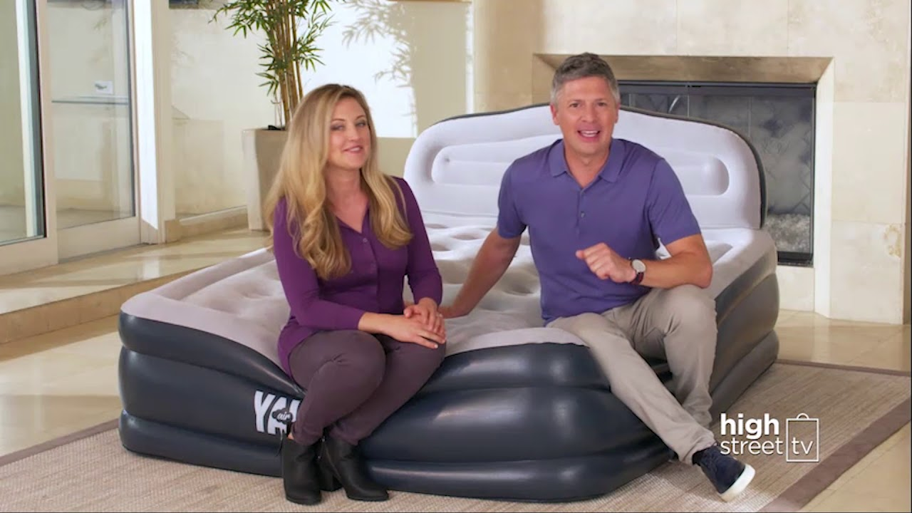 yawn air bed product demo high street tv youtube. Black Bedroom Furniture Sets. Home Design Ideas