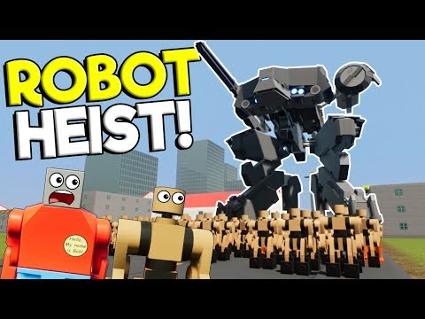 LEGO ROBOT HEIST & LEGO CITY DESTRUCTION! - Brick Rigs Gameplay - Heist Roleplay