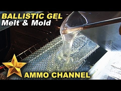 Melting clear ballistics gel in a traditional oven