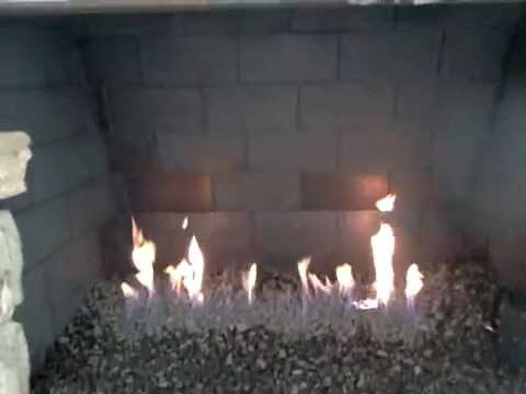 Lava Media For Fireplace Installation With Valve Kit Youtube
