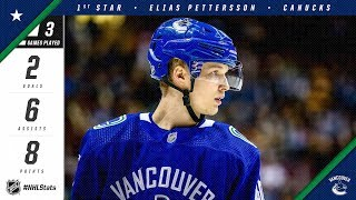 Elias Pettersson earns NHL First Star of the Week