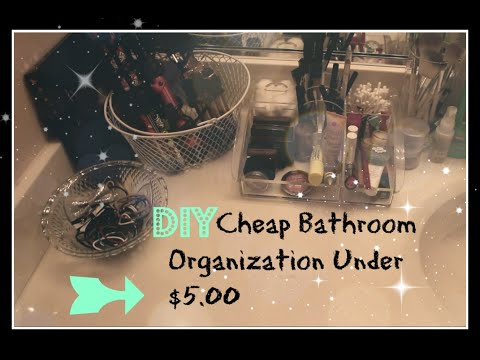 DIY Cheap Bathroom Organization Tips and Ideas for Spending Under $5.00