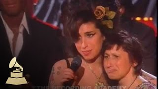 Amy Winehouse - accepting Record Of The Year at the 50th GRAMMY Awards