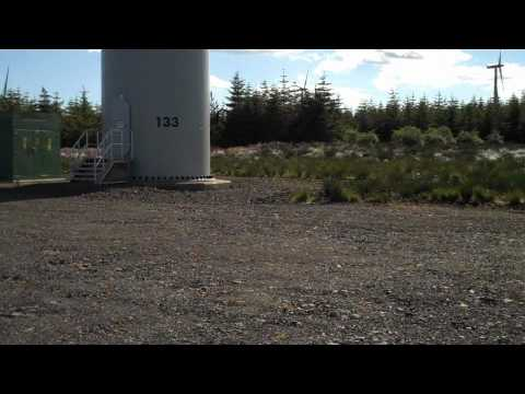 Whitelee Windfarm Scotland - Biggest In Europe - Quick Look At A Turbine