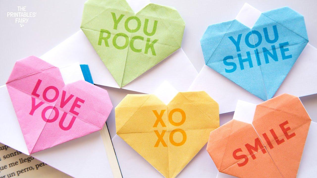 Wonderful DIY Unique Origami Heart Bookmark | 720x1280