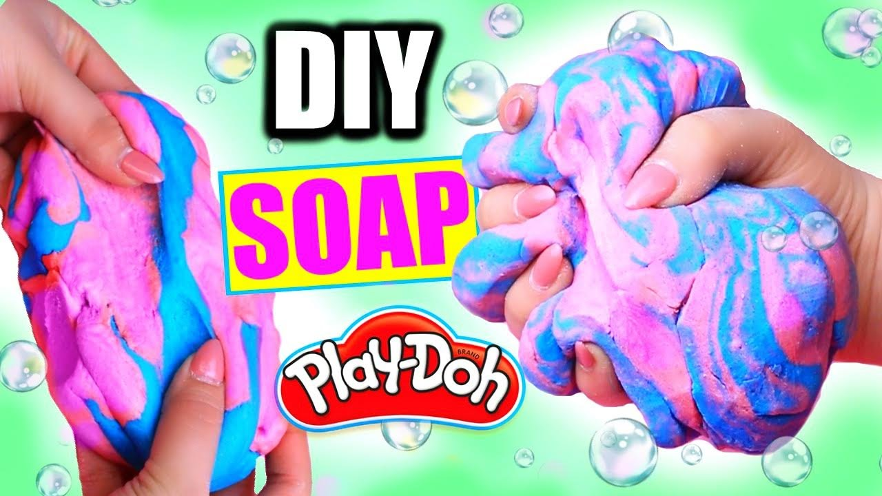 Diy playdough soap how to make squishy play doh soap youtube solutioingenieria Image collections
