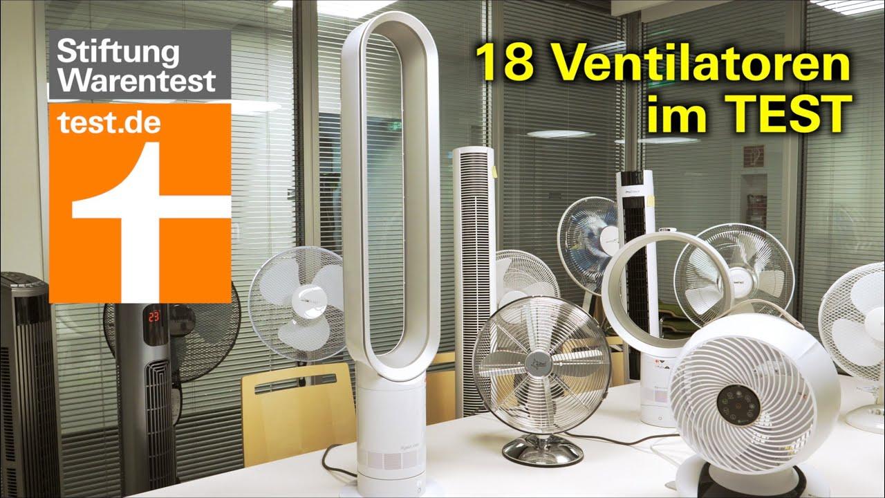 Test Ventilatoren 19: Die besten Tisch-, Stand- und Turmventilatoren  (Stiftung Warentest)