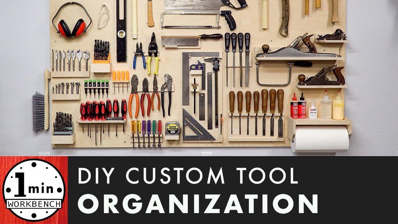 How To Make A Custom Tool Organization Board Youtube Tool Organization Workbench Organization Garage Tool Organization