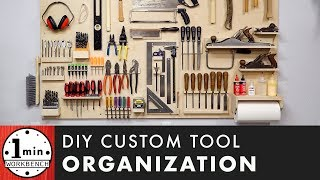 How to Make a Custom Tool Organization Board