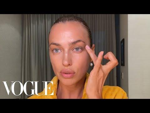 Irina Shayk's Guide to Fresh Skin &  Brows | Beauty Secrets | Vogue