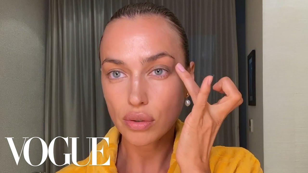 Irina Shayk's Guide to Fresh Skin & Full Brows | Beauty Secrets | Vogue