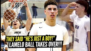 "LaMelo Ball Responds To ""HE'S JUST A BOY"" Comment By TAKING OVER PLAYOFF GAME & GOING OFF!"