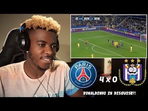 ANDERLECHT 0 x 4 PSG - Highlights & All Goals - UEFA Champions League ⚽🏆   Reaction