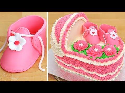 BABY SHOWER Cake - Easy Cake Decorating Idea by Cakes StepbyStep