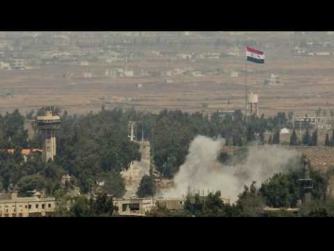 Israeli missile attack on Syrian Army