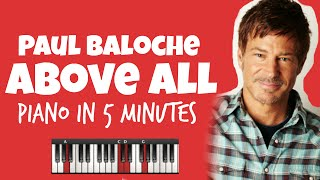Above All | Paul Baloche  & Michael W. Smith | Smart Chords | Learn Piano in 5min (HD)