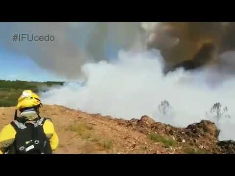 Las Brif de Tabuyo en el incendio de Porqueros