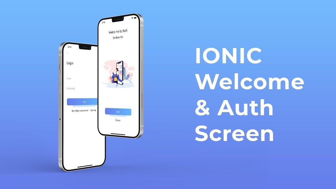 Ionic 5 ecommerce app - Welcome & Login Screen - Ep 1 - Speed Code
