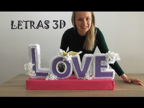 How to decorate my room / Decorate Your Fourth EASY 3D decorative letters. Olga's Diary