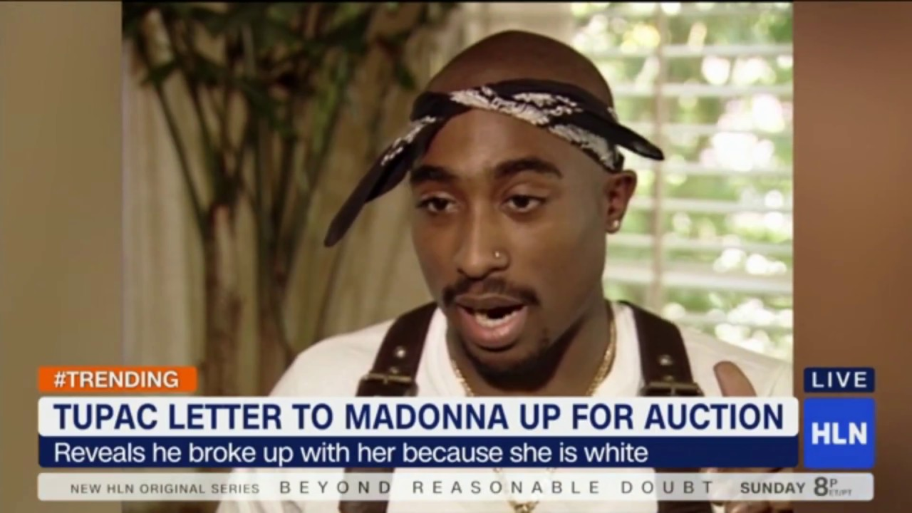 Tupac S Break Up Letter To Madonna Heads To Auction Youtube