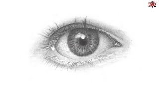 eye draw drawing easy realistic step