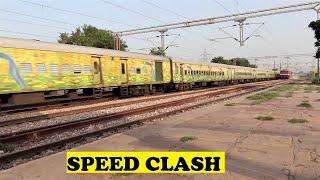 WAP7 Chennai Duronto VS WAP4 Golden Temple Mail