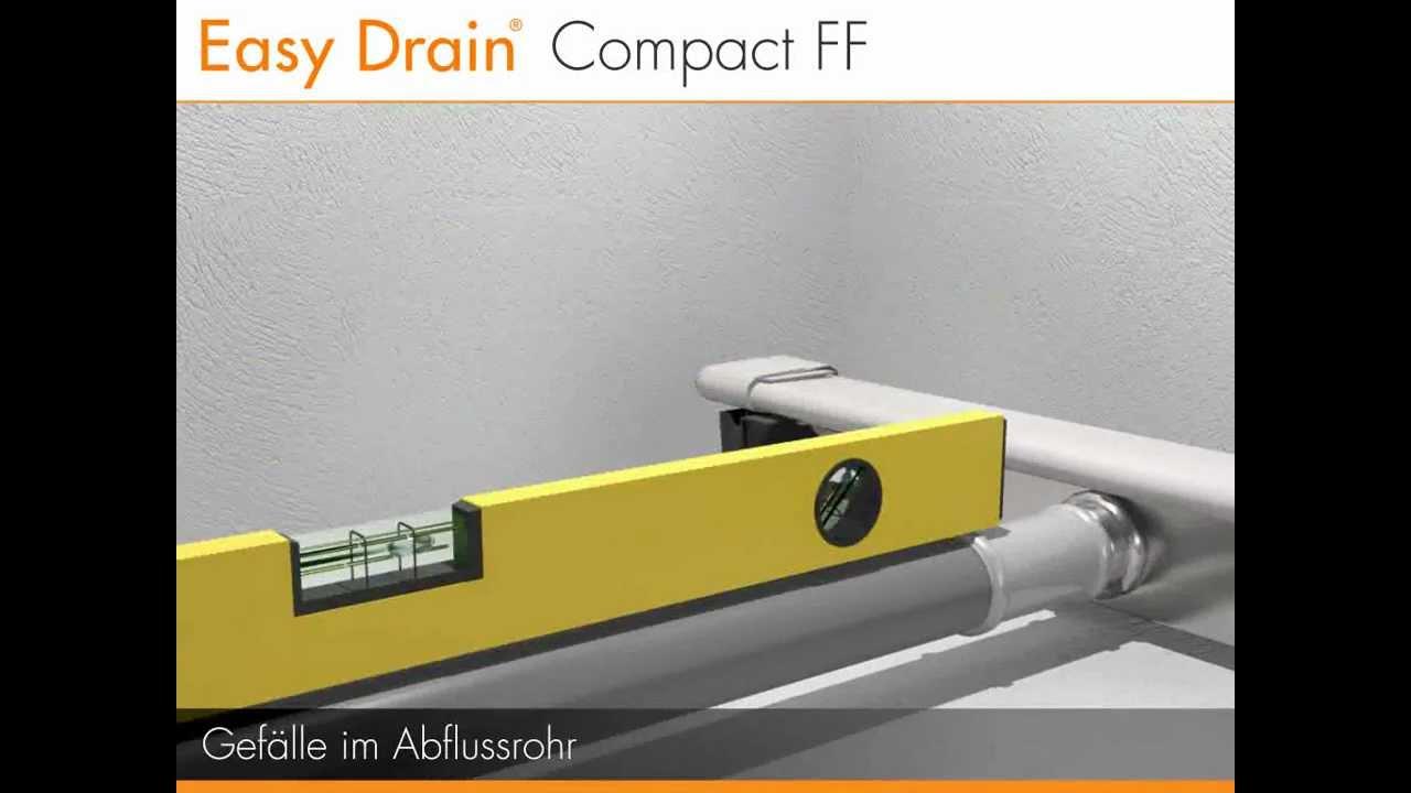einbau einer duschrinne – easy drain compact ff (deutsch) - youtube