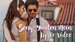 Song: yaadon mein singer: mohammed irfan, jonita gandhi, cuca roseta lyrics: irshad kamil music: pritam film directed by: imtiaz ali music label: sony