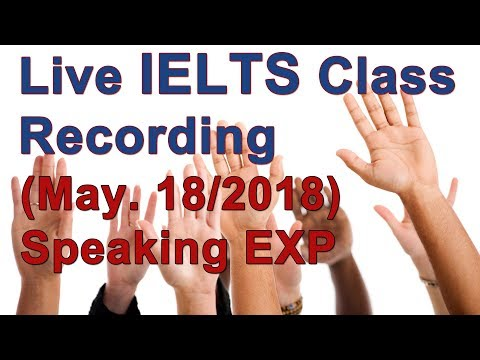 IELTS Speaking Part 2 - Generating Ideas (sponsor chat only - all students at 14:30 GMT - time)