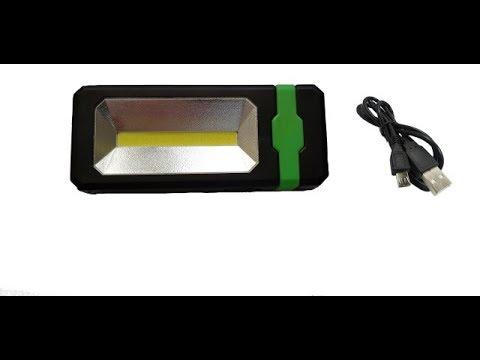 5dce2c8b1 Svítilna Qiim HT 2606 COB led nabíjecí přes USB nebo SOLAR - YouTube