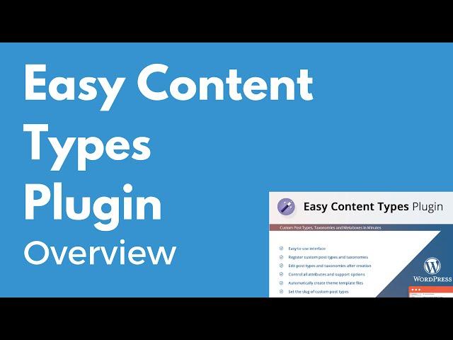 Download Easy Content Types – Premium WordPress Custom Post Type Plugin