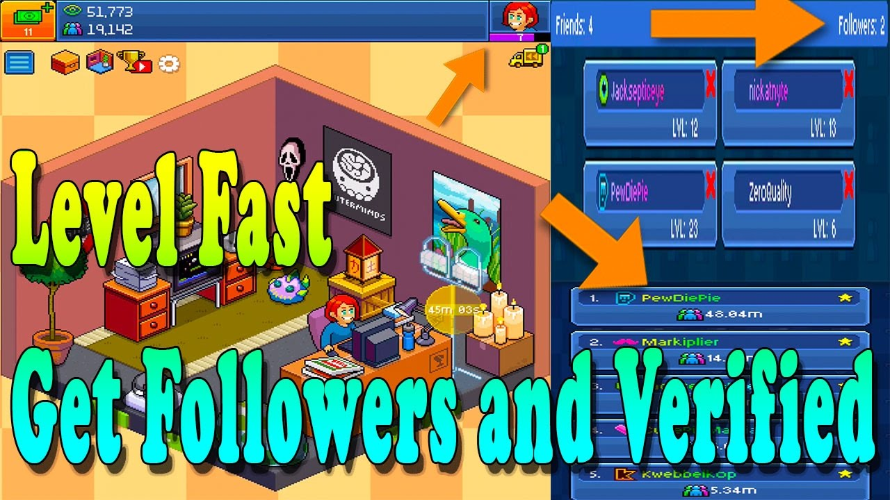 pewdiepie tuber simulator how to level up fast how to get