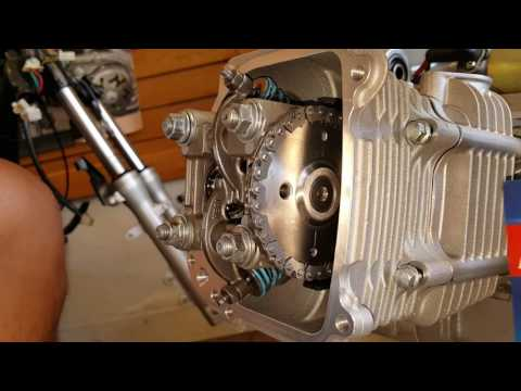 How to install 171cc Big Bore Kit on GY6 157QMJ Chinese Scooter Part #5