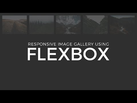 Responsive Image Gallery Using Flexbox | HTML & CSS