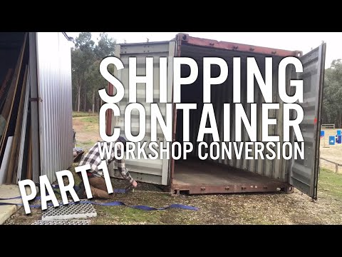 Shipping Container Workshop Conversion - Part 1 - Delivery, Locating, Cleaning, Prep for Paint