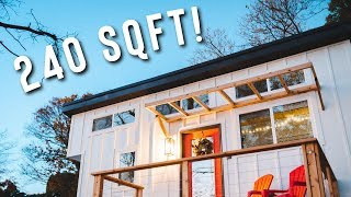 Cozy 240 Sqft Tiny House With A View! | Minimalist Living Full Airnb Tour!