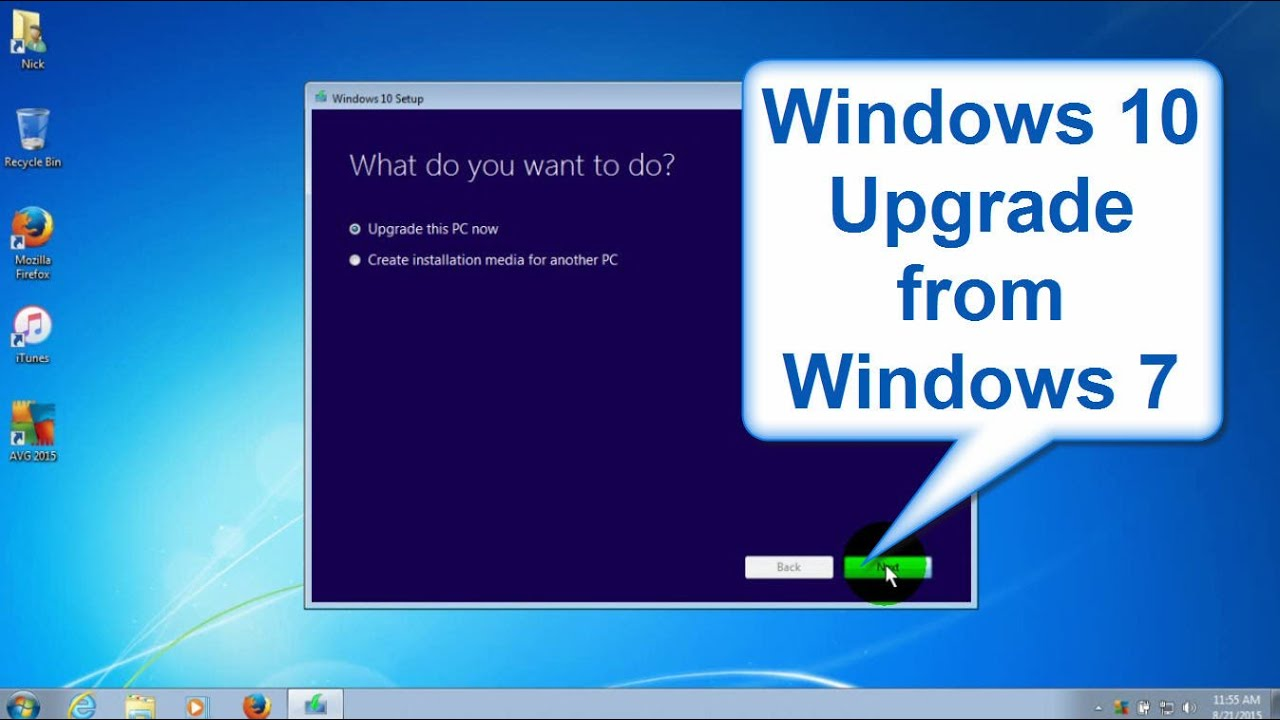 Windows 10 upgrade from Windows 7 - Upgrade Windows 7 to Windows 10 - Beginners Start to Finish ...