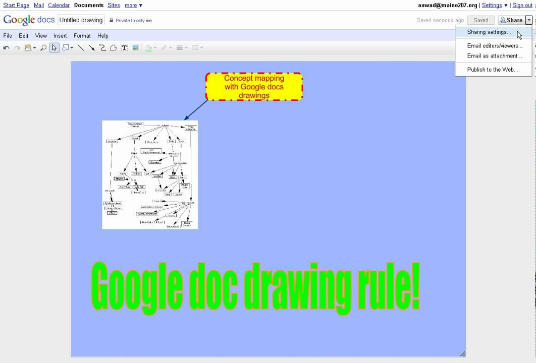 how to make a tree map on google docs