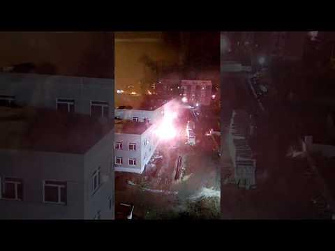 Возгорание возле школы в 145 микрорайоне